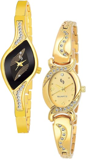 KAJARU BANGLE_935_901 Trendy New Arrival Watch Pack Of 2 For Women & Girls