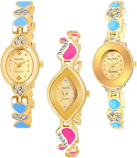 KAJARU BANGLE_1106 NEW ARRIVAL ATTRACTIVE PACK OF 3 WATCH FOR WOMEN