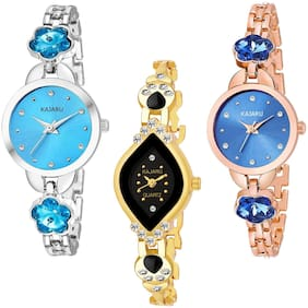 KAJARU BANGLE_1123 NEW ARRIVAL ATTRACTIVE PACK OF 3 WATCH FOR WOMEN
