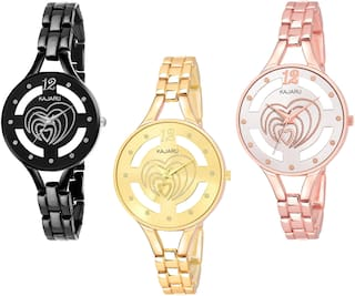 KAJARU BANGLE_1118 NEW ARRIVAL ATTRACTIVE PACK OF 3 WATCH FOR WOMEN
