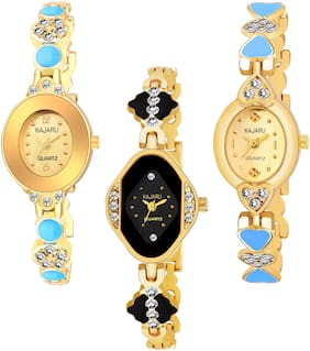 KAJARU BANGLE_1112 NEW ARRIVAL ATTRACTIVE PACK OF 3 WATCH FOR WOMEN