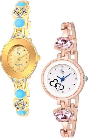 KAJARU BANGLE_907_940 Trendy New Arrival Watch Pack Of 2 For Women & Girls
