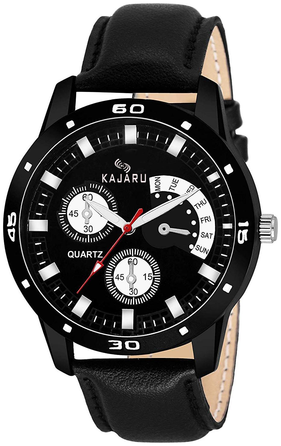 KAJARU K_452 ROUND DIAL LEATHER BELT Chronograph FANCY Chronograph WATCH FOR MEN