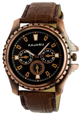 Kajaru KJR-1 Analog Black Dial Watch for Men