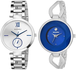 Kajaru L-2122-Girls Blue Dial (Casual+PartyWear+Formal) Designer 2 Combo Watch For Girls And Woman