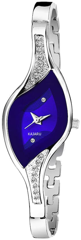 KAJARU Women Silver Analog Watch - BANGLE_922a