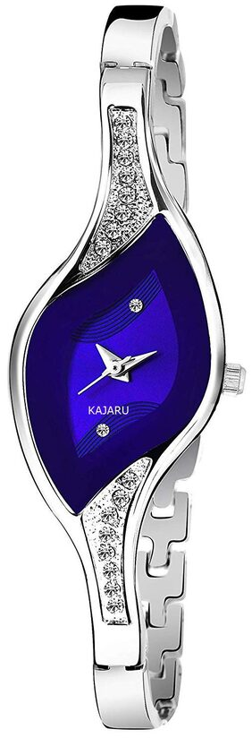 KAJARU L-BANGLE-922 BLUE DIAL BENGAL WATCH FOR WOMEN AND GIRLS