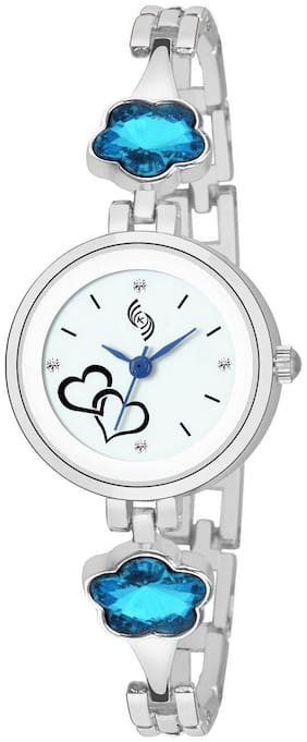 KAJARU L-BANGLE-939 WHITE DIAL BENGAL WATCH FOR WOMEN AND GIRLS