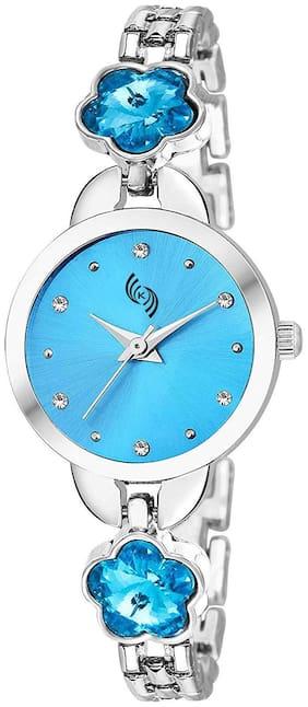 KAJARU L-BANGLE-917 BLUE DIAL BENGAL WATCH FOR WOMEN AND GIRLS