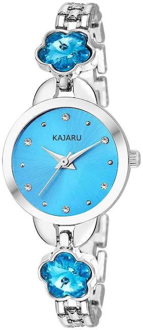 KAJARU L-BANGLE-917 BLUE DIAL BENGAL WATCH FOR WOMEN AND GIRLS
