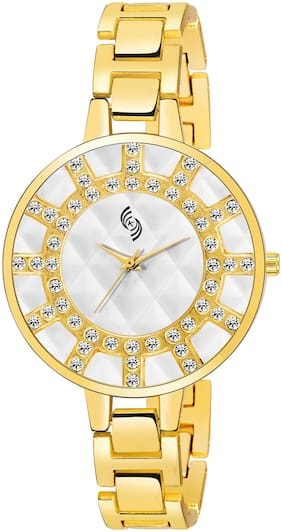 KAJARU L-BENGAL-924 EXQUISITE WHITE DIAL BREACLET WATCH FOR WOMEN AND GIRLS