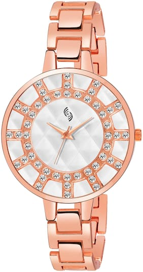 KAJARU L-BENGAL-925 EXQUISITE WHITE DIAL BREACLET WATCH FOR WOMEN AND GIRLS