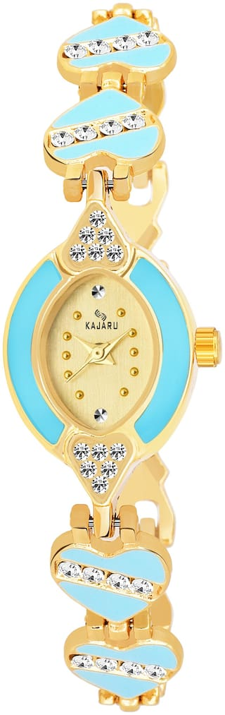 Kajaru Ladies-969 Gold Dial Trendy New Arrival Watch Analog Watch For Women And Girls