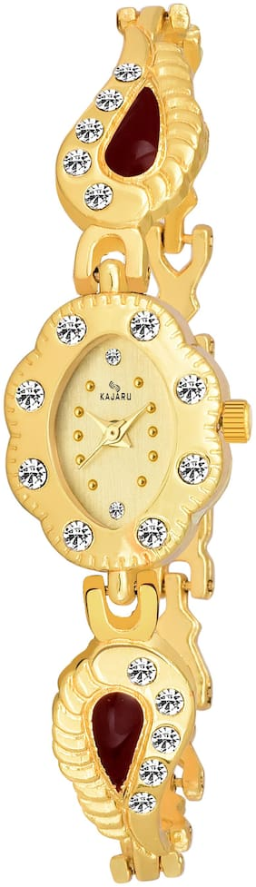 Kajaru Ladies-966 Gold Dial Trendy New Arrival Watch Analog Watch For Women And Girls