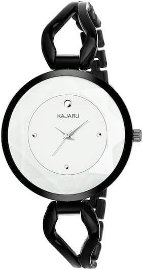 KAJARU LADIES-814 SWAROVSKI WHITE DIAL Watch - For Girls