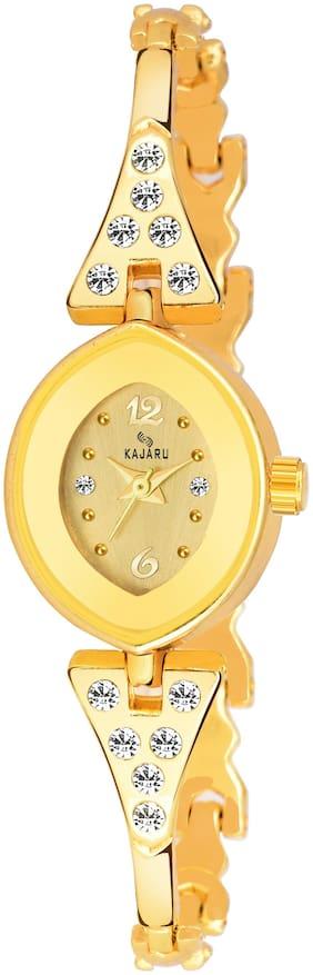 Kajaru Ladies-970 Full Gold Trendy New Arrival Watch Analog Watch For Women And Girls