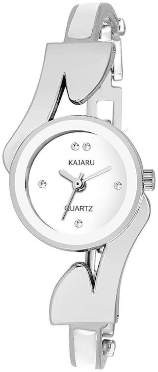 Kajaru Ladies-805 WHITE Dial BRACELET WRIST WATCH FOR GIRLS