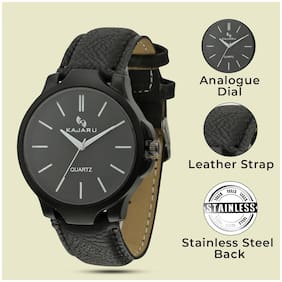 KAJARU MEN_415 Leather Analog Watch For Men And Boys