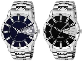 KIARVI GALLERY New Dream Fashion Collection day And Date Watch combo  With metal Strap