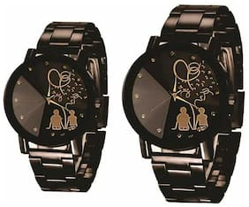 KIARVI GALLERY Lover Couple watch Special design Steel belt Couple Analog Watch - For Men & Women
