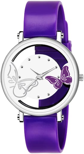 KIARVI GALLERY FASHIONABLE OPEN DIAL  PURPLE BUTTERFLY WATCH FOR GIRLS AND WOMEN