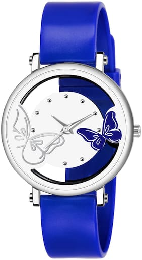 KIARVI GALLERY  DREAM NEW FASHIONABLE OPEN DIAL IN BUTTERFLY  BLUE STREP  WATCH FOR GIRLS AND WOMEN\