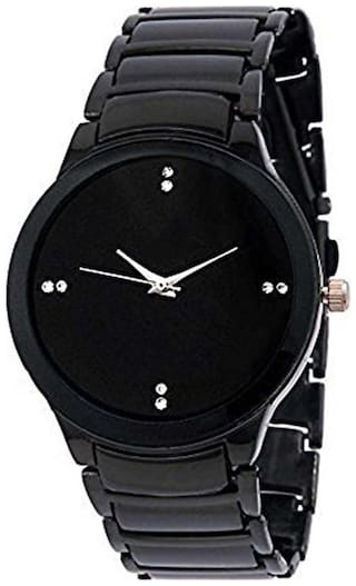 KIARVI GALLERY New Branded Black Dial  Watch With Standard Metal Strap