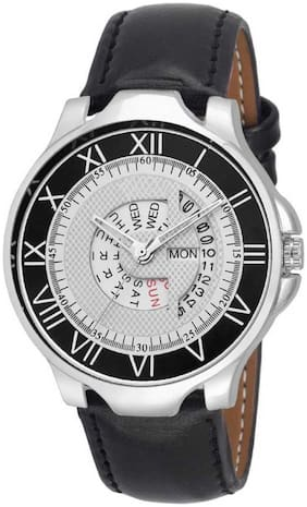 KIARVI GALLERY Dream Fashion Black & White DIAL   Day  Date  Display Watch  - For Men