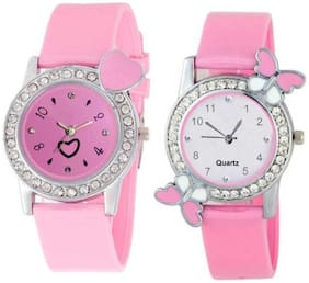 KIARVI GALLERY Dream Fashion Pink Love Butterfly Stylish Analog Watch for Women and Gilrs Watch - For Girls