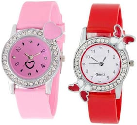 KIARVI GALLERY Dream Fashion Pink Love and Red Butterfly Stylish Analog Watch for Women and Gilrs
