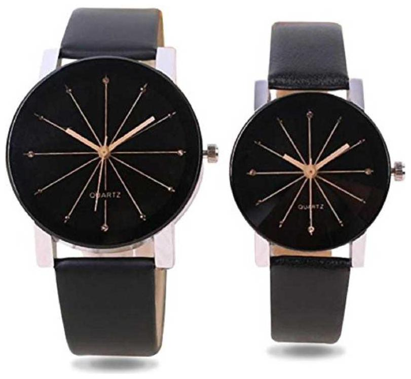 Kiroh Crystal Glass Prizam Leather Strep Analog Combo Watch Analog Watch   For Men   Women