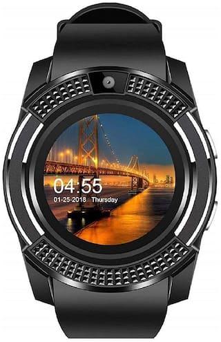 Kirru SmartWatch V8 Bluetooth Smartwatch with Camera SIM Card Slot & Pedometer Smart Health Features for Men & Women;Microphone Touch Screen