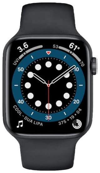 Kirru T55+ Plus Smart Watch Series 6 Bluetooth Crown Working Android Music Playback Answer Calls With Activity Tracker Steps Counter Blood Pressure Heart Rate 1.57 Full Screen