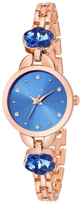 Krishtal Trading - 918 Blue Dial Bengal Watch For Women And Girls