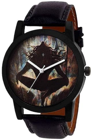 Krishtal Trading Black Dial Stylish Designer Festive wrist Analog watch for boys