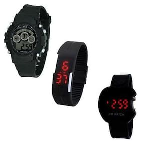 ks enterprise Digital Watch for Women - Set of 3