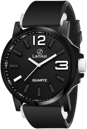 Lamkei Men Round Shape Analog Watch