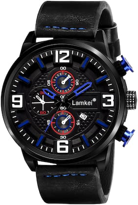 Lamkei Round Shape Analog Watch For Men
