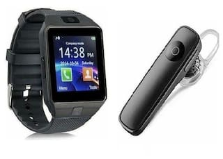 f08a40cb4ae Latest combo pack of dz09 bluetooth smartwatch with free bluetooth headset  from S.L.G