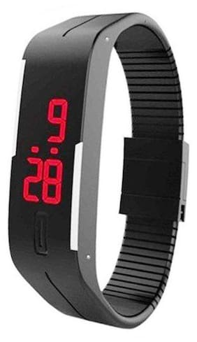 Led Digital Black Women Rubber Watches(Pack of 5)
