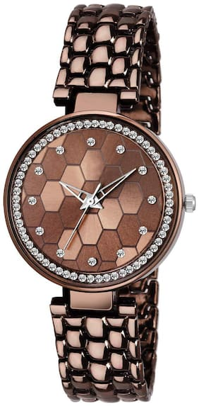 LEVERET New Fancy Stylish Brown&Brown Unique Item For Women&Girl Watch