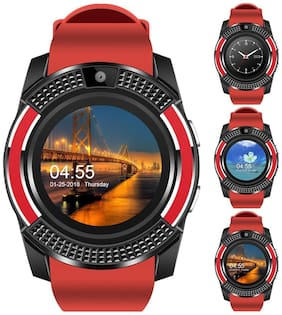 Life Like V8 Bluetooth Smartwatch With Sim & Tf Card Support