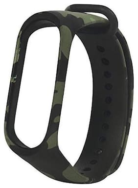 Like Star Replacement Strap For Mi M4 And Mi M3 Band Smart Band  (Army Green)