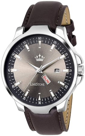 LimeStone Grey Avatar Day and Date Display Analog Watch fro Men/Boys