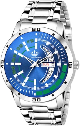 LimeStone Multicolor Fashion Day and Date Display Analog Watch for Men/Boys