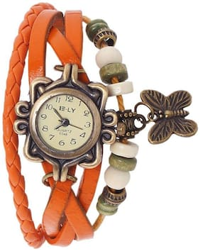 Locate Attractive Stylish Golden Dial Butterfly Dori Analog Watch