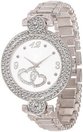 Locate Charming Beautiful Look Silver Girls & Women Watch
