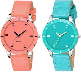 Women Orange;Blue Analog Watch