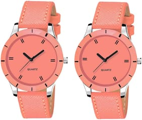 Locate Combo Pack 2 Beautiful Look Premium Analog Watch For Women