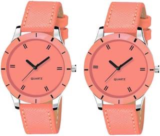 Locate Combo Pack 2 Beautiful Look Premium Analog Watch For Women